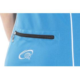 Gonso Serra Fietsshirt lange mouwen Dames blauw/wit